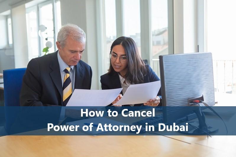 power of attorney cancelation - revoke power of attorney