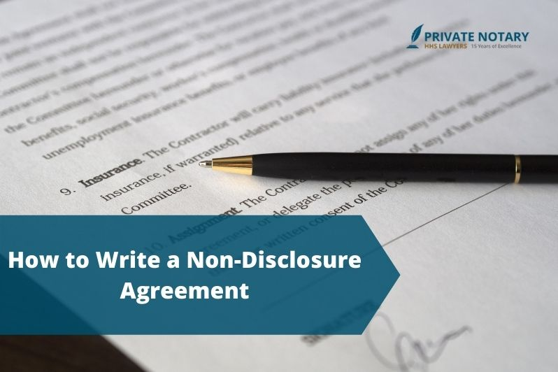 Steps Write a Non-Disclosure Agreement