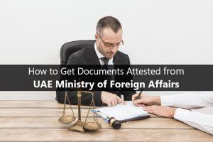 Mofa attestation UAE