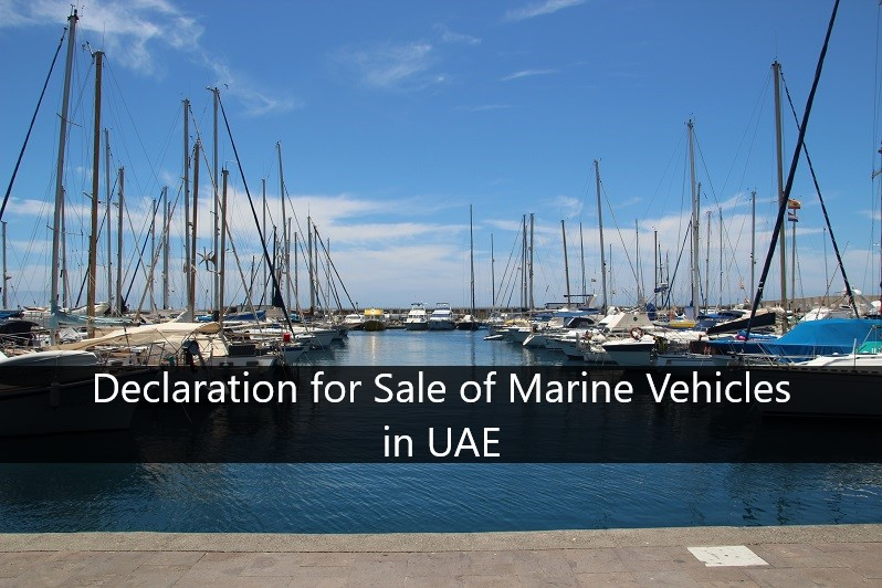 How to write a declaration for Sale of Marine Vehicles in UAE