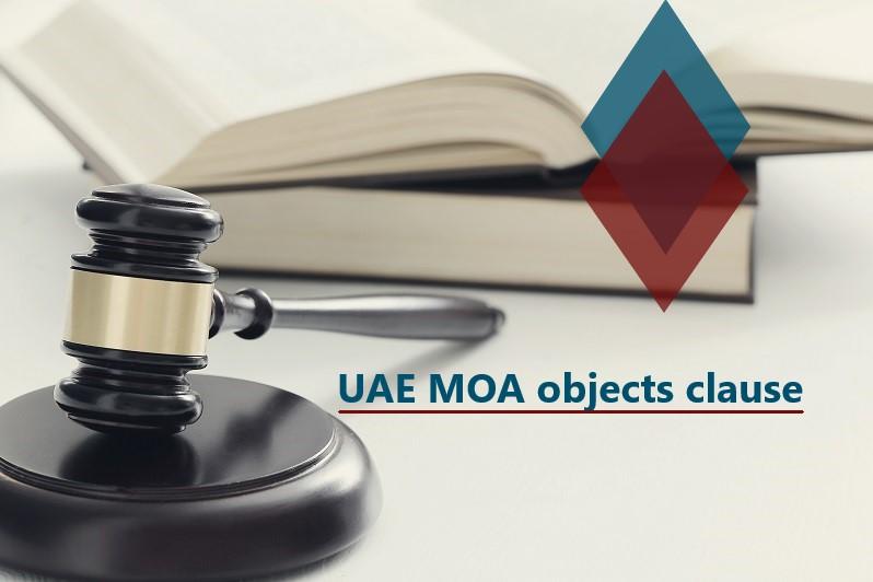 UAE memorandum of association objects clause