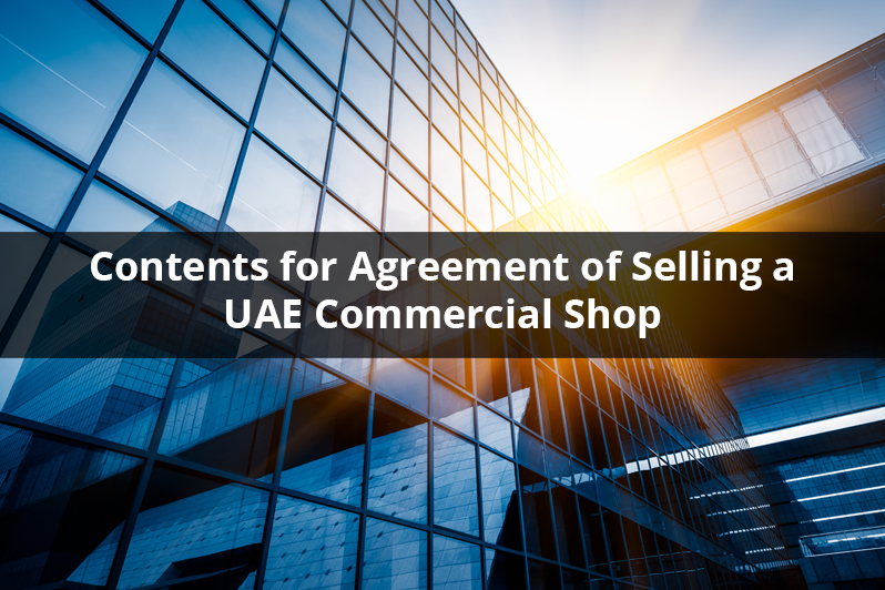 Agreement of Selling a UAE Commercial Shop
