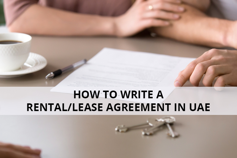 How to Write a Rental,Lease Agreement in UAE